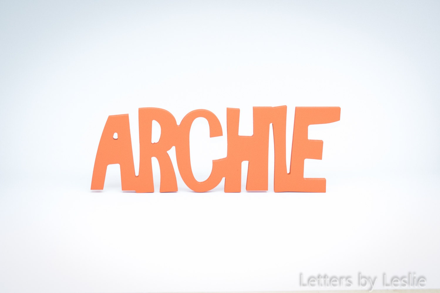 Connected Letters Wooden Name Sign Nursery Name Signs