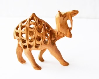 camel small wooden hand carved