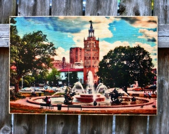 Photo Transferred onto Wood 'Sunday Afternoon' (free shipping)
