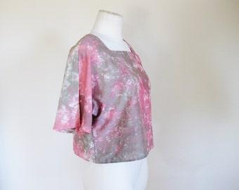 Tie Dye Crop Top. Bohemian tie dye Women lose blouse - High Hopes -