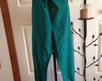 Upcycled, Recycled, Men's Forest Green Renaissance, Pirate, Celtic, Viking, Fairy, Pants/Knickers large