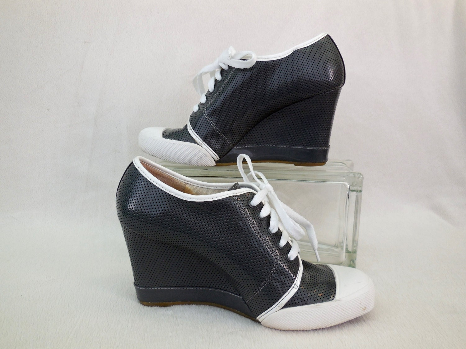 vintage reaction shoes wedges rage high heel wedge tennis shoe