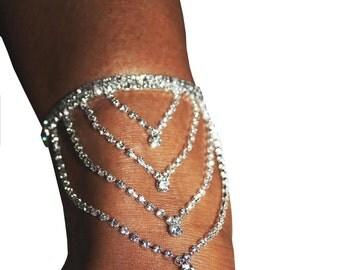 Rhinestone Anklet Armlet Austrian Crystal Exotic Body Jewelry Belly Dancer