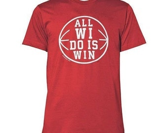 Sconnie - All WI Do Is Win Bball - Heather Red