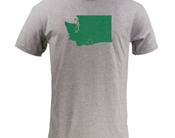 Distressed Washington State Shape - Sport Grey