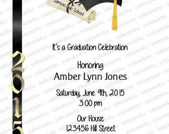 Personalized Graduation Party Invitation934