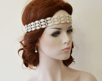 Bridal Headband, Wedding Rhinestone and Pearl  headband, Wedding Headband, Wedding hair Accessory,  Bridal Hair Accessory