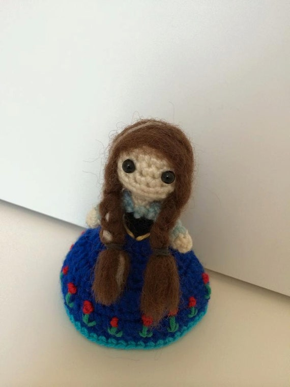 Anna (Frozen) doll - by crochet (Pattern Only - Download instantly)