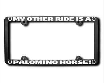 My Other Ride Palomino Horse License Plate Frame USA (T)