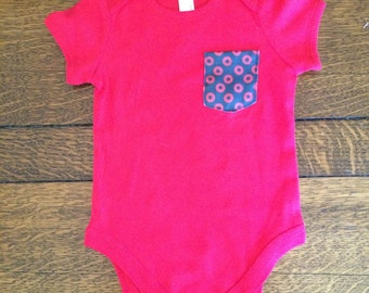 Fishman Baby Pocket Onesie / One Piece Red Phish Baby / You Enjoy My Shirt
