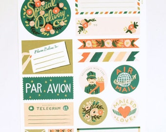 Rifle Paper Co. Par Avion Stickers & Labels