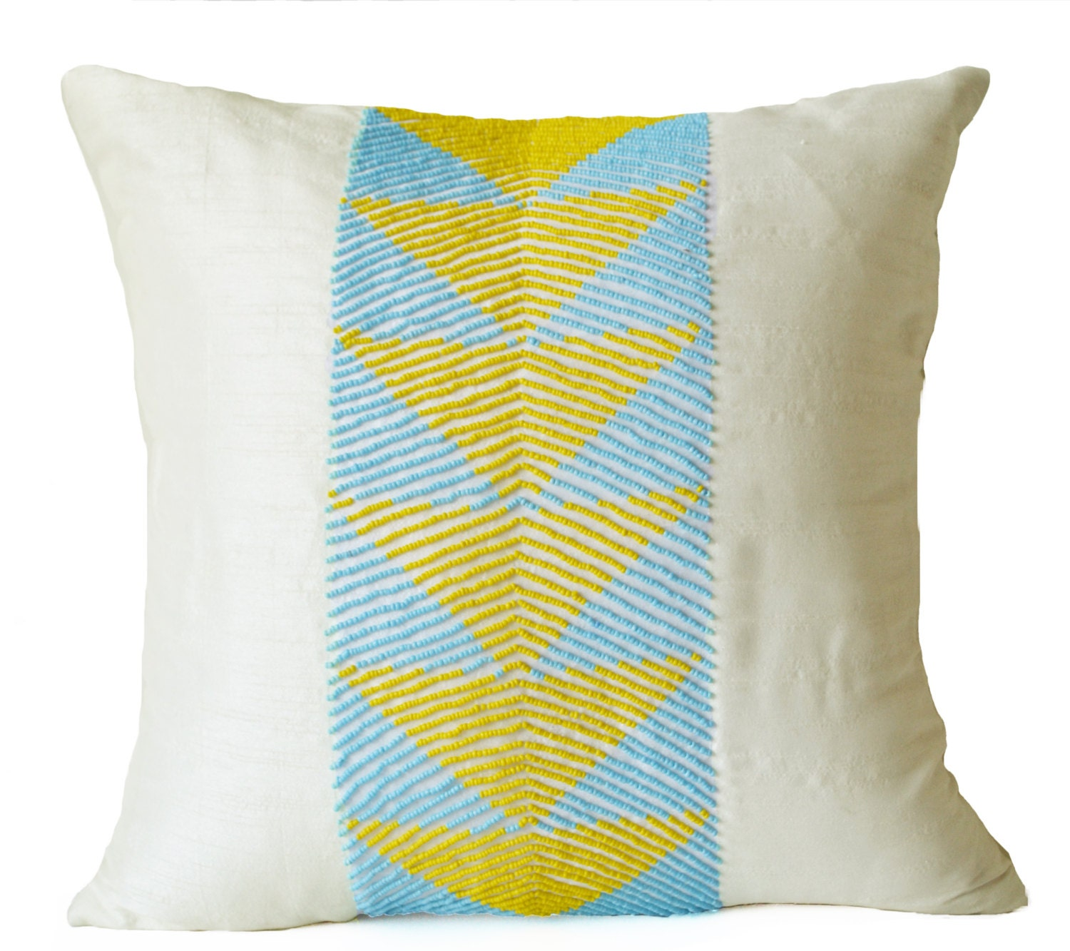 Blue Geometric Throw Pillows : Decorative Pillow Covers Throw Pillows Yellow Blue Geometric