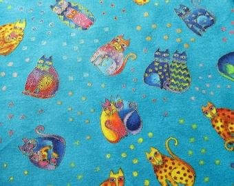 One Yard Laurel Burch Fanciful Felines-Sitting Cats Fabric Y1111-33M