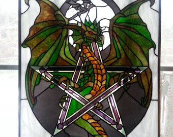 Large Stained glass Dragon