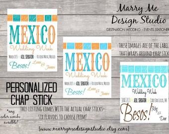 Custom Personalized Label Wedding Favor Chap Stick
