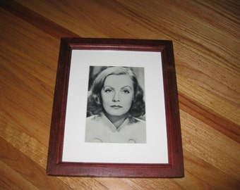"""LARGE POSTERCARD 1967 Celebrity Card Framed And Matted 9 1/2"""" x 11 1/2"""""""