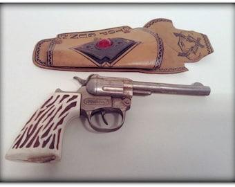 Vintage Hubley Cap Gun with 'Top Gun' Holster