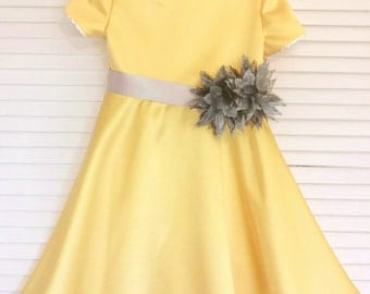 girls yellow dress – Etsy
