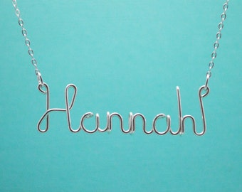 Custom Name Necklace Personalized Wire