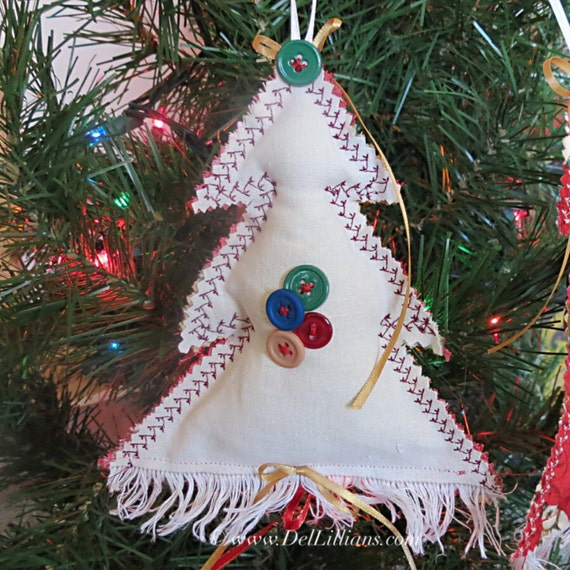 Items Similar To Christmas Tree Ornament, Fabric Christmas