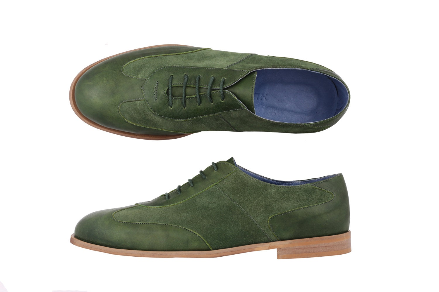 s leather suede oxford shoes green adikialv on by