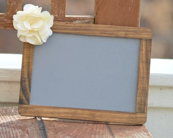 Framed Chalkboard sign, wood chalkboard, rustic wedding chalk board sign, 5x7