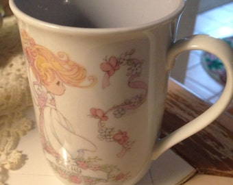 """Precious Moments Tea Coffee Cup """"Cathy""""  1993 REDUCED"""