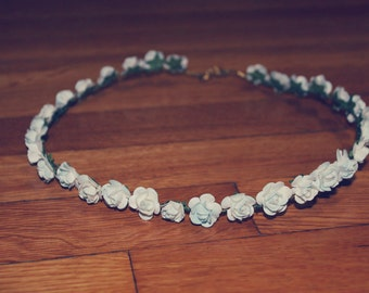 Baby Blue Daisy Crown
