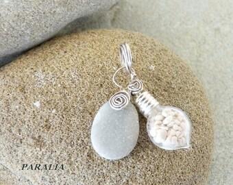 Sand beach pebble pendant