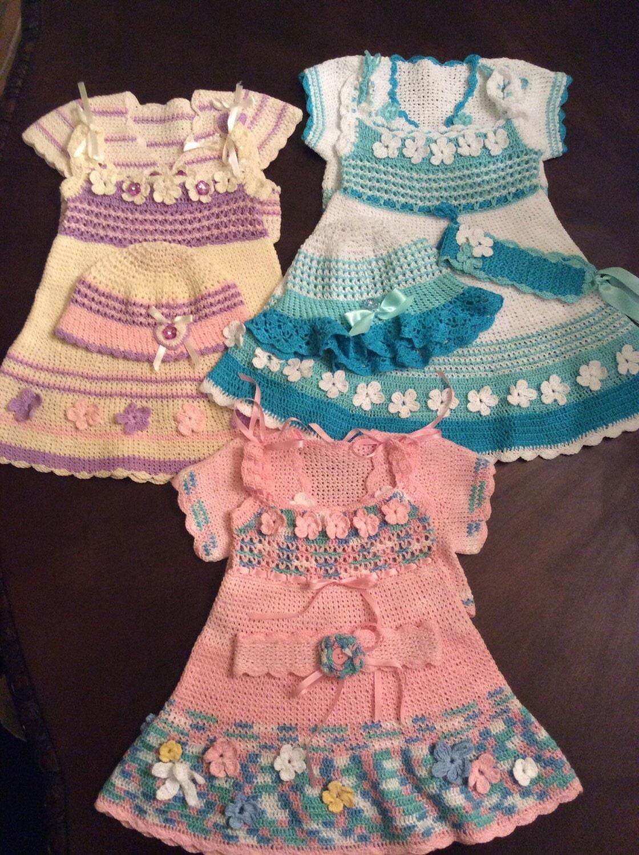Spring Dress Outfit Crochet Pattern Summer Dress Baby Dress
