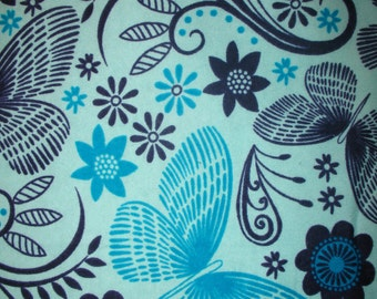 SALE: Blue Butterfly (Floating Flowers) Pillowcase