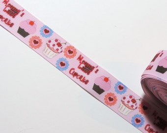 Clearance ribbon - Cupcake grosgrain ribbon - 2 yards