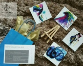 Mini Gift Set | modern ARABIC calligraphy, watercolour painting, Yasmin mogahed inspired, arabic calligraphy, islamic home decor