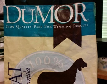 Recycled Feed Bag Tote, reusable tote bag, grocery tote, recycled shopping bags, reusable grocery bag, recycled tote bags Dumor Goat Feed