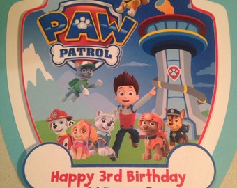 Paw Patrol Door Sign or Wall Hanging