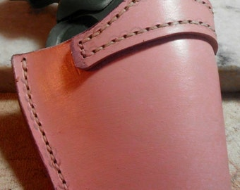 "Leather Gun Holster/ Custom conceal carry Leather Pink  holster for  38 sp. 2.5"" barrel"