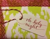 Handwritten Christmas Gift Tags (Christmas Carols)