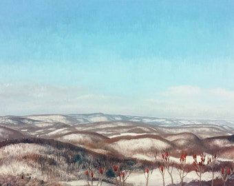 """Original Oil Landscape Painting, Skytop, Oil on 24x36"""" canvas, by Sean Bodley"""
