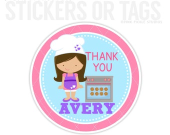 Baking Birthday Stickers, Favor Tags, Happy Birthday Stickers, Gift Tag, Favor Tag, Printable Favor Tags :No.345