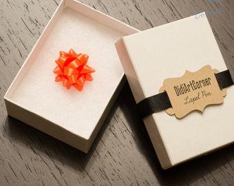 Mini Lapel Pin - Orange Star Lapel Pin