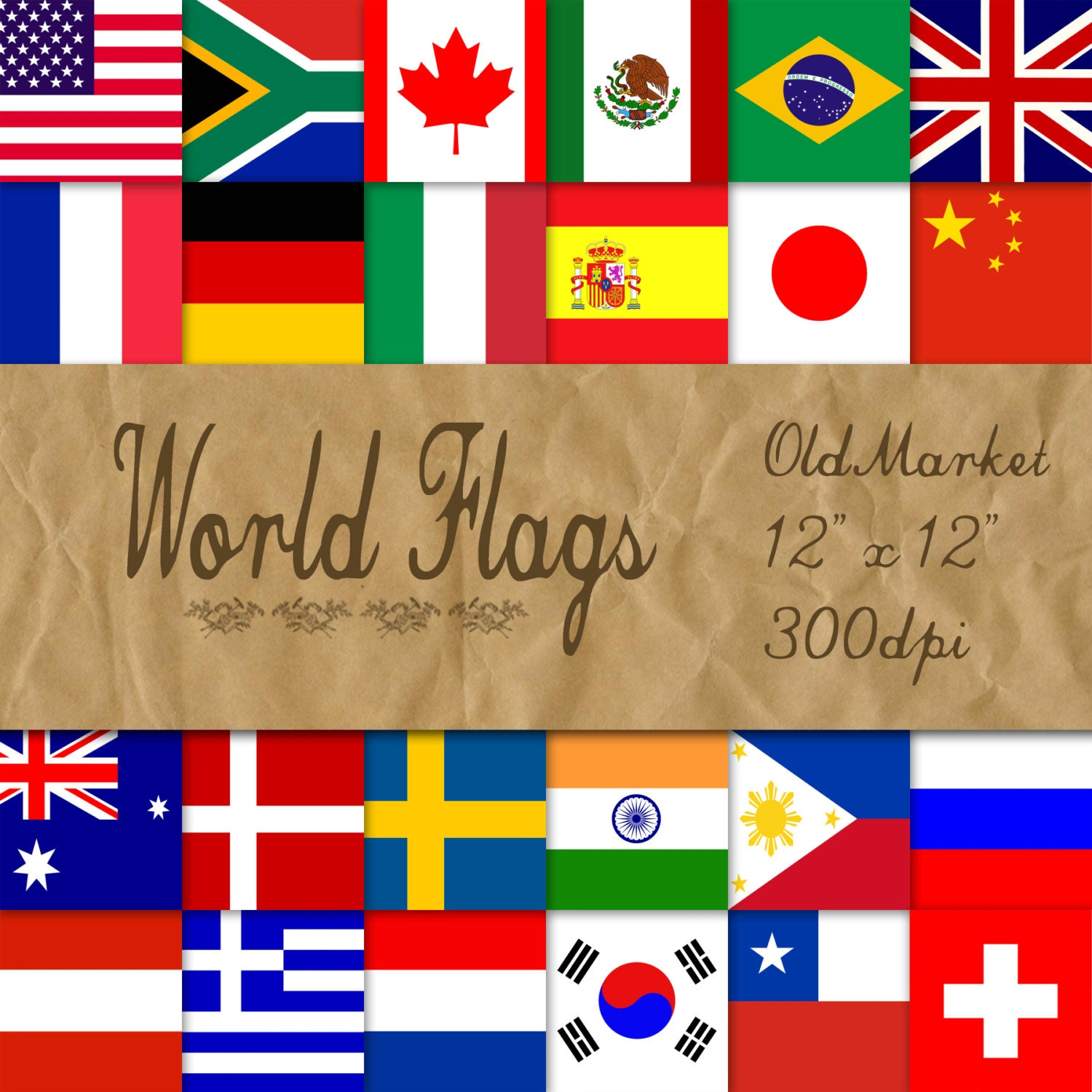 printable flags download your custom international flag paper