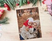 Holiday Photo Card - PRINTABLE - Christmas
