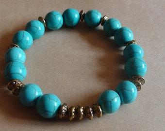 Handmade bracelet Turquoise bracelet Womens jewelry Stretchy bracelet Handmade bracelet