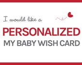 Personalized Baby Wish Card