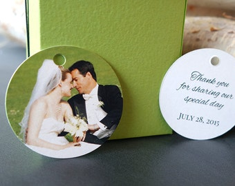 Wedding Gift Tags for Thank You Favors (Round Tags)