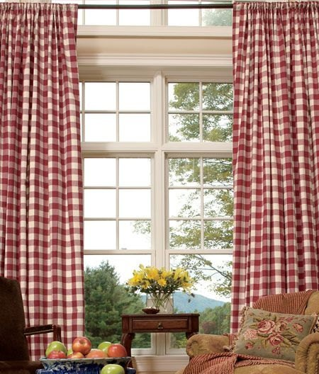 Buffalo Check Curtains Checkmate Red Cadet By Bellaskidscloset
