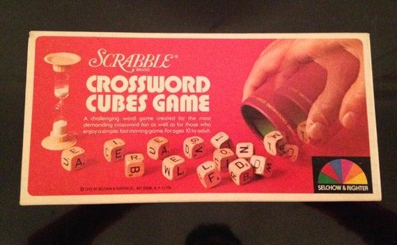 Vintage Scrabble Crossword Cubes Game 1976