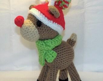 Christmas Reindeer Amigurumi Pattern Rudolph PDF file only