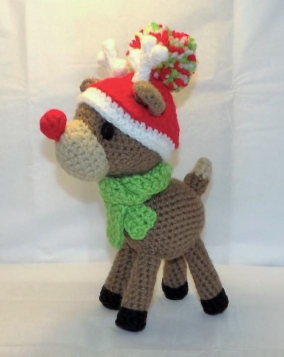 Rudy Reindeer Amigurumi : Christmas Reindeer Amigurumi Pattern Rudolph PDF file only