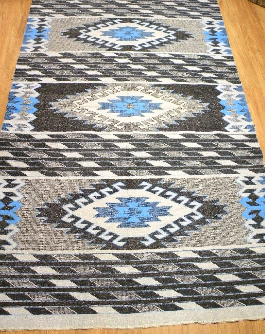5x8ft vintage de grand tapis kilim tribal am rindien indien. Black Bedroom Furniture Sets. Home Design Ideas